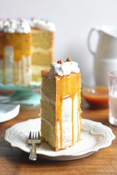 I love tall cakes. I love caramel. Simple math.
