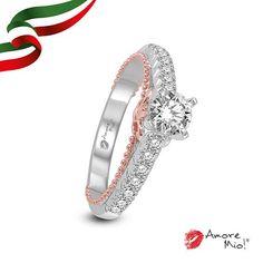 Anillo de oro Blanco / Rosa 14Kt SKU: WRG1430368A Diamante Redondo 0.50 quilates. Color-D, Claridad VS2 Laboratorio-EGL(EC), SKU Diamante: 13720, Precio: $54,999.76 pesos M.N *Consulte términos y condiciones.