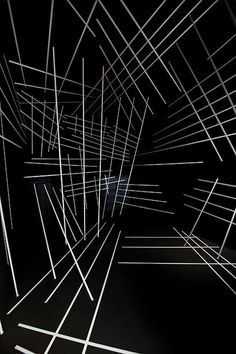 Graphic geometric installations by Esther Stocker