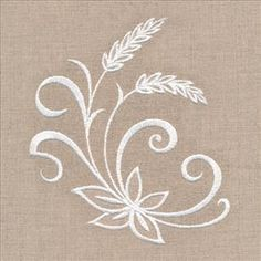 Machine Embroidery Designs at Embroidery Library! Basic Embroidery Stitches, Hand Embroidery Videos, Embroidery On Clothes, Embroidery Flowers Pattern, White Embroidery, Hand Embroidery Designs, Paper Quilling Patterns, Napkin, Personalised Napkins