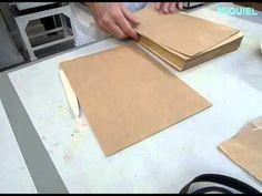 Preparación libro en piel