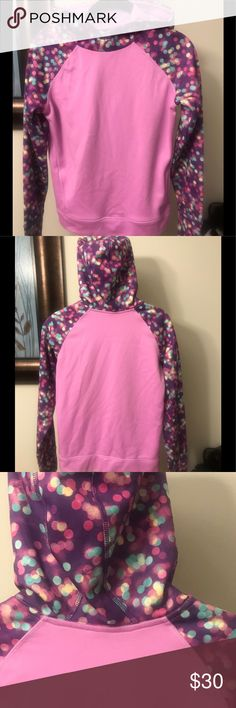 Reebok Purple Hoodie with Polka Dots Size Large Reebok * Purple Hooded Sweatshirt * Colorful Dots on Hood and Sleeves * Size Large * Pullover * Wide Waistband * Excellent Used Condition * 100% Polyester  Visit @KellysCache for Women's Fashion   Visit my Hubby's Closet @MensStyleHouse for Top Brand Men's Fashion Reebok Shirts & Tops Sweatshirts & Hoodies