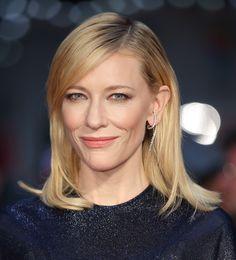 Hair style. Makeup.La boucle d'oreille en diamants de Cate Blanchett au London Film Festival 2015
