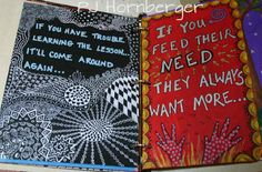 art journal pages by PJ Hornberger