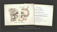 read more – SKULL COUPLE GOTHIC DAY OF THE DEAD WEDDING INVITATION | Wedding and Party Invitations