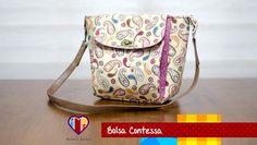 Bolsa de tecido Contessa - Maria Adna Ateliê - Cursos e aulas de bolsas ...
