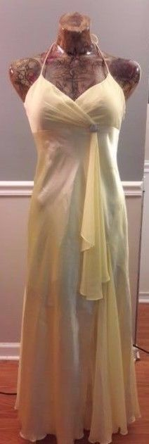 Womens Dress Betsy & Adam Gown 6P Yellow sleeveless PROM PARTY PAGEANT  #BetsyAdam #Formal