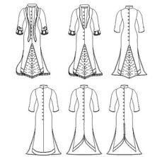 Robe victorienne Multi taille patron de par MantuaMakerPatterns