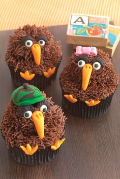 Cute Kiwi Cupcakes | NZ Herald - Good idea for #ConservationWeek morning tea!