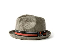 NEW Brixton has arrived like the Castor Straw Hat in Grey #Brixton #AYP #punkrockstyle