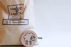 Make a Match Toddler  Farm Edition  Memory Game by MamaMayI