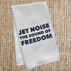 a3adaa252 Military Towel, Jet Noise the Sound of Freedom, Patriotic Hand Towel, Pilot  Towel