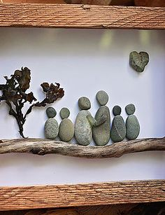 Rocks & Pebbles | Gallery, lighted canvas frame