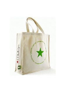 Earth Reusable Eco Friendly 100% Cotton Shopping Bag Tote Beige Large 16X 5 X16 #Macys