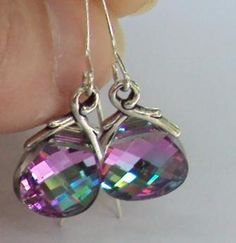 Swarovski iridescent crystal flat briolette by BeautyOffered, $22.00
