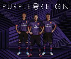#Arsenal Purple Reign Away Kit 2012/13 #ARSENALPINTEREST