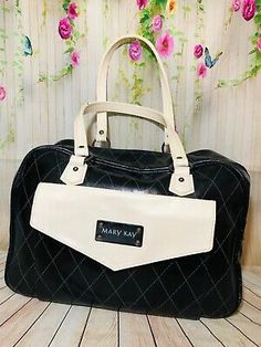 Mary Kay Deluxe Consultant Travel Bag with Insert Divided Storage Tote - EUC!!  | eBay