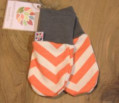 Organic Cotton and Bamboo Chevron Scratch Mittens by Westcoastbaby, $11.95