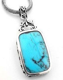 Turquoise Blue Lapis Reversible Sterling Silver Pendant on http://jewelry.kerdeal.com/turquoise-blue-lapis-reversible-sterling-silver-pendant