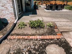 How to Add a Charming Brick Border to Garden - Building Bluebird Flower Bed Borders, Flower Beds, Brick Flower Bed, Brick Border, Brick Garden Edging, Diy Garden Projects, Garden Ideas, Outdoor Projects, Garden Design Plans