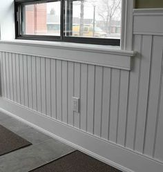 Super Genius Ideas: Faux Wainscoting Projects metal wainscoting building homes.White Wainscoting Dining Room painted wainscoting entry ways. Picture Frame Wainscoting, Wood Wainscoting, Home, Wainscoting Nursery, Wainscoting Bedroom, Wainscoting Stairs, Wainscoting Height, Beadboard Wainscoting, Dining Room Wainscoting