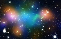 Your 7-Step Guide to the Shadow Galaxy // Color-coded, composite of the galaxy cluster Abell 520. Green denotes hot gas; orange highlights starlight from galaxies; blue shows the inferred location of dark matter. (Credit: NASA, ESA, CFHT, CXO, M.J. Jee, and A. Mahdavi)