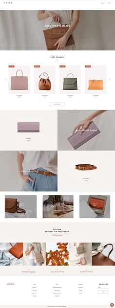 Woman's Accessories | Website Template