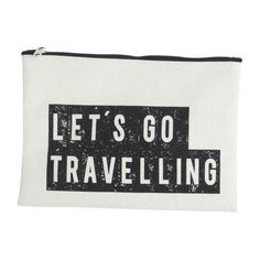 Let's Go Travelling Make Up Bag (26 BRL) ❤ liked on Polyvore featuring beauty products, beauty accessories, bags & cases, bags, beauty, wash bag, makeup purse, dop kit, house doctor and purse makeup bag