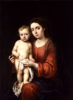 Bartolomé Esteban Murillo (attributed to) - Madonna and Child with a Rosary, ca. 1673 - The Wallace Collection Catholic Art, Religious Art, Mother And Child Reunion, Esteban Murillo, Images Of Mary, Jesus Christus, Mama Mary, Spanish Art, Madonna And Child