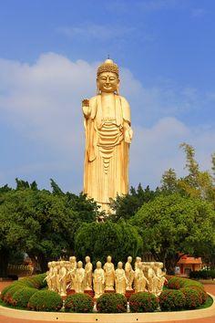 Free Image on Pixabay - Taiwan, Big Buddha, Buddha Statues Amitabha Buddha, Gautama Buddha, Buddha Temple, Buddha Zen, Free Images, Cool Pictures, Taiwan, Buddha Painting, Temples