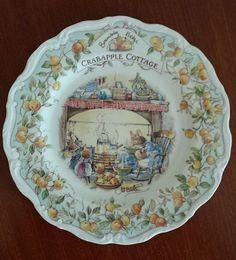 "Royal Doulton, Brambley Hedge, Crabapple Cottage, Jill Barklem, 8"" plate #Plate"