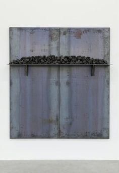 JANNIS KOUNELLIS Untitled, 2014 Iron, coal 78 7/10 × 70 9/10 in 200 × 180 cm.