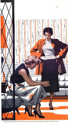 trendy vintage women illustration pin up peter otoole Magazine Illustration, Woman Illustration, Retro Illustration, American Illustration, Retro Art, Vintage Art, Vintage Ladies, Pin Up, Vintage Illustrations