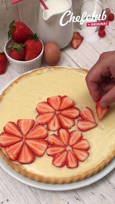 Sweet Recipes, Cake Recipes, Snack Recipes, Dessert Recipes, Cooking Recipes, Snacks, Strawberry Pie, Tasty, Yummy Food
