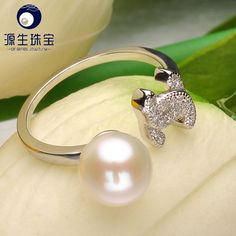 Aliexpress.com : Buy Pearl jewelry freshwater pearl ring for women 925 sterling silver 7.5 8mm adjust pearl ring YSETB008 from Reliable ring dimond suppliers on pearls by yuansheng
