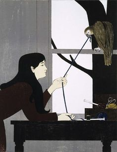 Will Barnet (I had a poster of this on my bedroom wall when I was a teenager)
