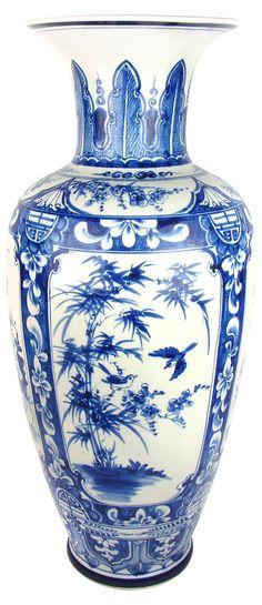 One Kings Lane - Eastern Oriented - Chinese Porcelain Floor Vase