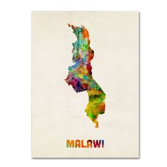 Purchase Michael Tompsett 'Malawi Watercolor Map' Canvas Wall Art 35 x 47 Inches from Destination Home on OpenSky. Share and compare all Home. Map Canvas, Abstract Canvas, Canvas Wall Art, Canvas Size, Abstract Print, Watercolor Map, Map Art, Artist Canvas, 5 D