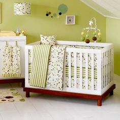 luxe baby nursery - green and white.jpg
