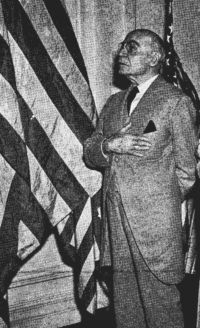 William Tyler Page (1868–1942) was an American patriot and lover of freedom who wrote The American's Creed and served in various capacities in the U.S. Capitol for over 60 years. This picture of Page was taken during a ceremony on the 50th Anniversary of the Pledge of Allegiance. He passed away the following day. Click to read the American's Creed:  http://www.historicdocumentsofamerica.com/theamericanscreed.php