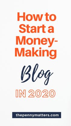 Want to start a money making blog in 2020? This is a no-nonsense guide that will take you through critical steps on how to start a blog. From deciding a blogging niche,  choosing a domain name,  setting up WordPress,  writing your first post, essential blogging tools to ways to make money blogging. Get started today.     #StartaBlog #HowtoStartaBlog #bloggingforbeginners #makemoneyblogging #bloggingtips #wordpressblog #bloggingtools via @thepennymatters Make Blog, How To Start A Blog, Social Media Marketing Business, Marketing Ideas, Content Marketing, Affiliate Marketing, Digital Marketing, Business Tips, Online Business