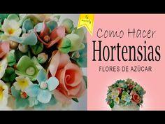 Gumpaste HORTENSIAS (Flores de Azúcar Tutorial) - YouTube