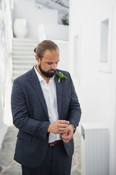 Elopement can be one way to go in this crazy period. Have you thought about eloping to Santorini? get inspired by this stylish Santorini elopement! Wedding Planner, Destination Wedding, Santorini Wedding, Minimal Decor, Wedding Officiant, My Favorite Part, Groomsmen, Suit Jacket, Handsome
