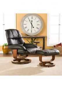 Leather Recliner and Ottoman - multifunctional