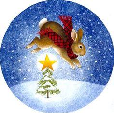 """Star Rabbit"" by Stephanie Stouffer (12/12/16) #December #Snow"