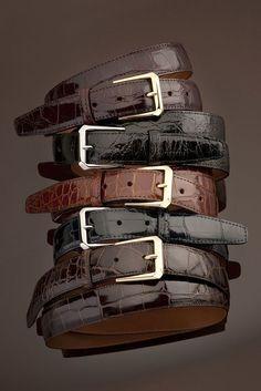 Genuine American Alligator brown glossy finish Custom handmade belt Size 32-44