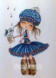 Faça o Download Digital Digi selos Olho grande cabeça grande Dolls Digi Besties img460 por Sherri Baldy