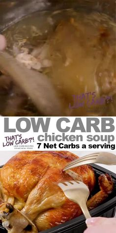 Keto Chicken Soup made in an Instant Pot is a healthy flavorful homemade culinary cure for complicated dinners. Don't settle for canned impostors. Instant Pot Chicken Soup Recipe, Low Carb Chicken Soup, Chicken Soup Recipes, Healthy Chicken Recipes, Chicken Meals, Healthy Food, Gluten Free Recipes For Lunch, Low Carb Dinner Recipes, Keto Recipes