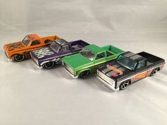 Lot of 4 Hot Wheels Wal Mart Kmart Exclusive 83 CHEVY SILVERADO Racing LOOSE #HotWheels #Chevrolet