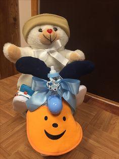 Baby shower, moto de pañales y accesorios para bebé